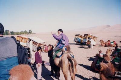 敦煌のつきの砂漠